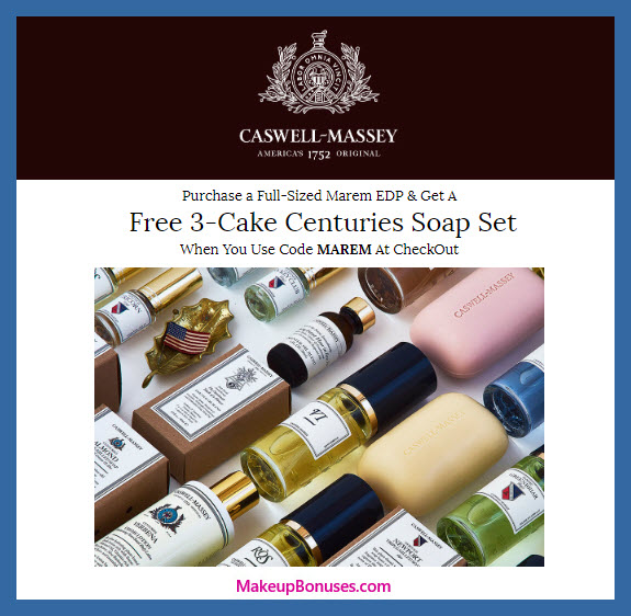 Receive a free 3-pc gift with Full Sized Marem EDP purchase #CaswellMassey