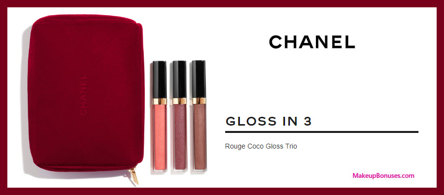 Chanel Gloss in 3 - Rouge Coco Gloss Trio - MakeupBonuses.com #nordstrom