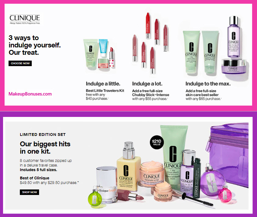 Receive a free 4-pc gift with $40 Clinique purchase #clinique