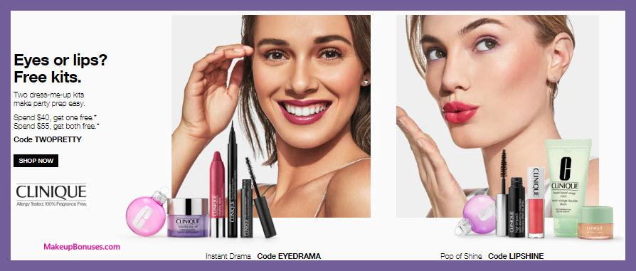 Receive your choice of 4-pc gift with $40 Clinique purchase #clinique