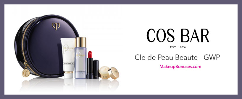 Receive a free 5-pc gift with $350 Clé de Peau Beauté purchase #CosBar