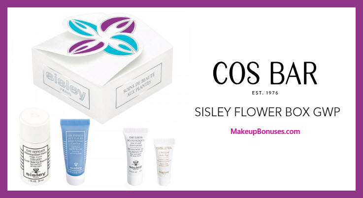 Receive a free 4-pc gift with $250 Sisley Paris purchase #CosBar