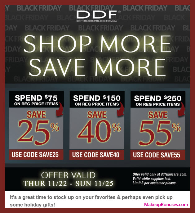 DDF Sale - MakeupBonuses.com