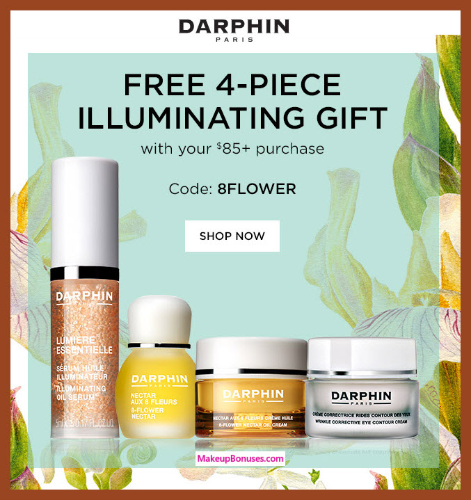Receive a free 4-pc gift with $85 Darphin purchase #darphin