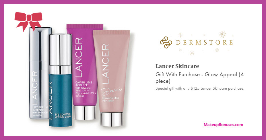 Receive a free 4-pc gift with $125 LANCER purchase #Dermstore