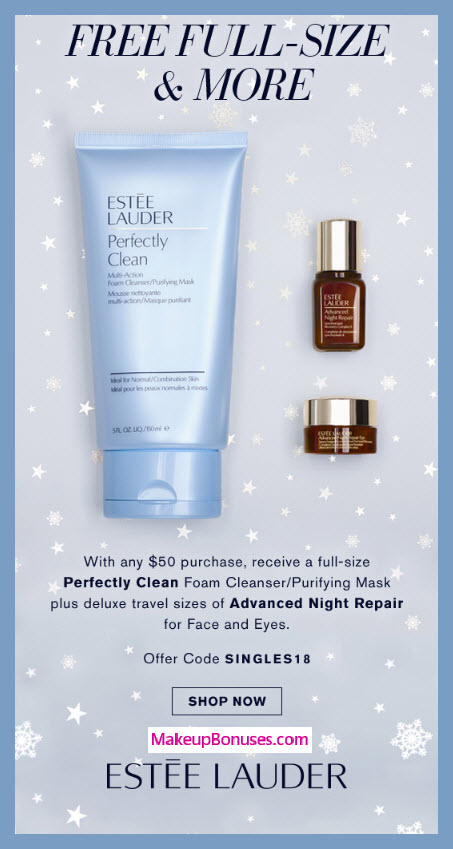 Receive a free 3-pc gift with $50 Estée Lauder purchase #EsteeLauder
