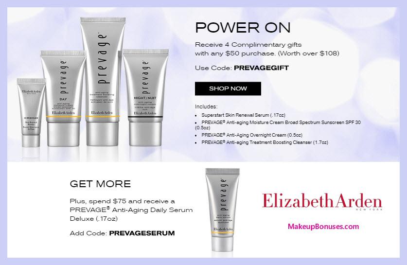 Receive a free 4-pc gift with $50 Elizabeth Arden purchase #ElizabethArden