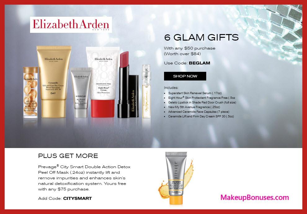 Receive a free 6-pc gift with $50 Elizabeth Arden purchase #ElizabethArden