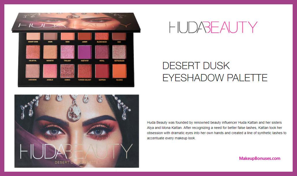 Desert Dusk Eyeshadow Palette - MakeupBonuses.com #HudaBeauty #sephora