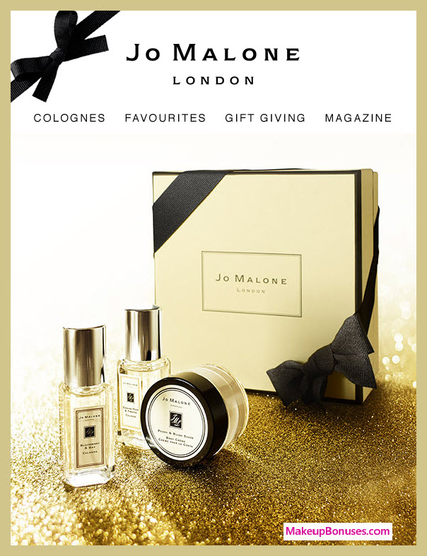 Receive a free 3-pc gift with $130 Jo Malone purchase #JoMaloneLondon