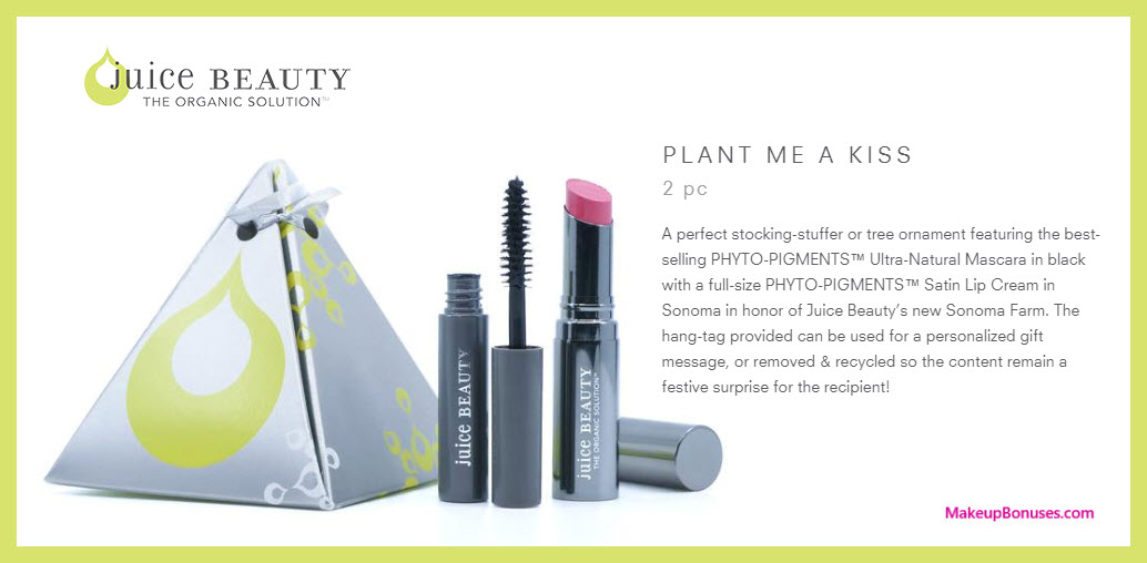 Plant Me A Kiss Gift Set - MakeupBonuses.com @JuiceBeauty #JuiceBeauty #pharmaca #FeedYourSkin #CleanBeauty