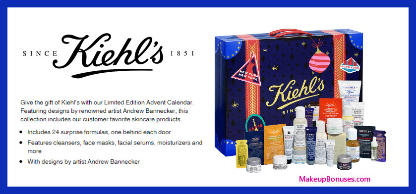 Limited Edition Advent Calendar - MakeupBonuses.com #KiehlsUS #Kiehls #KiehlsSince1851