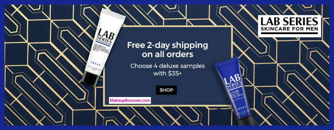 Receive a free 4-pc gift with $35 LAB SERIES purchase #LabSeries