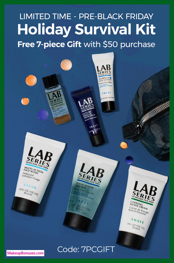 Receive a free 7-pc gift with $50 LAB SERIES purchase #LabSeries