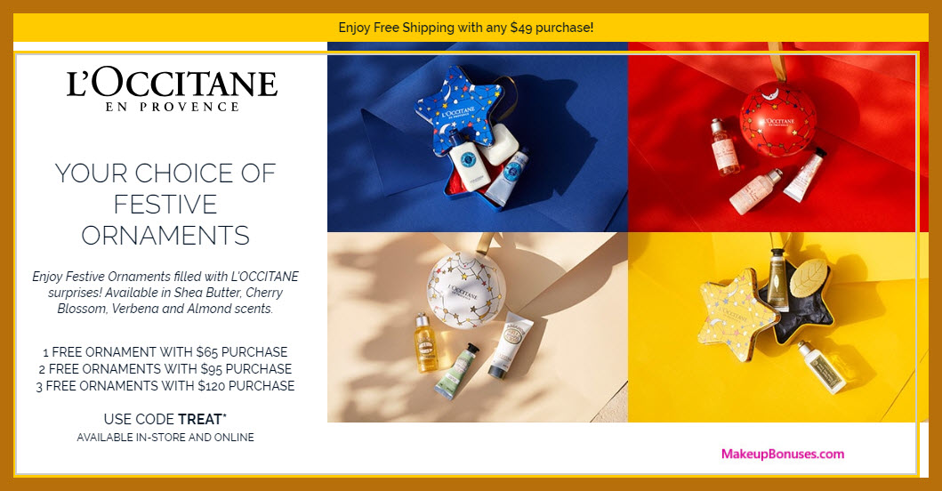 Receive a free 3-pc gift with $120 L'Occitane purchase #loccitaneUSA