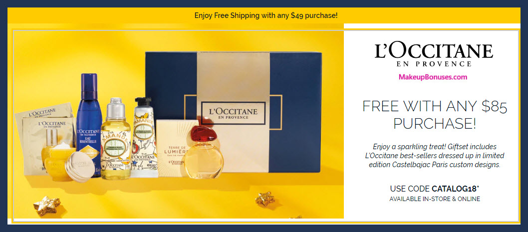 Receive a free 7-pc gift with $85 L'Occitane purchase #loccitaneUSA