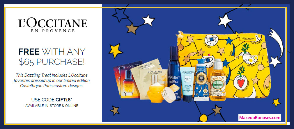 Receive a free 10-pc gift with $65 L'Occitane purchase #loccitaneUSA