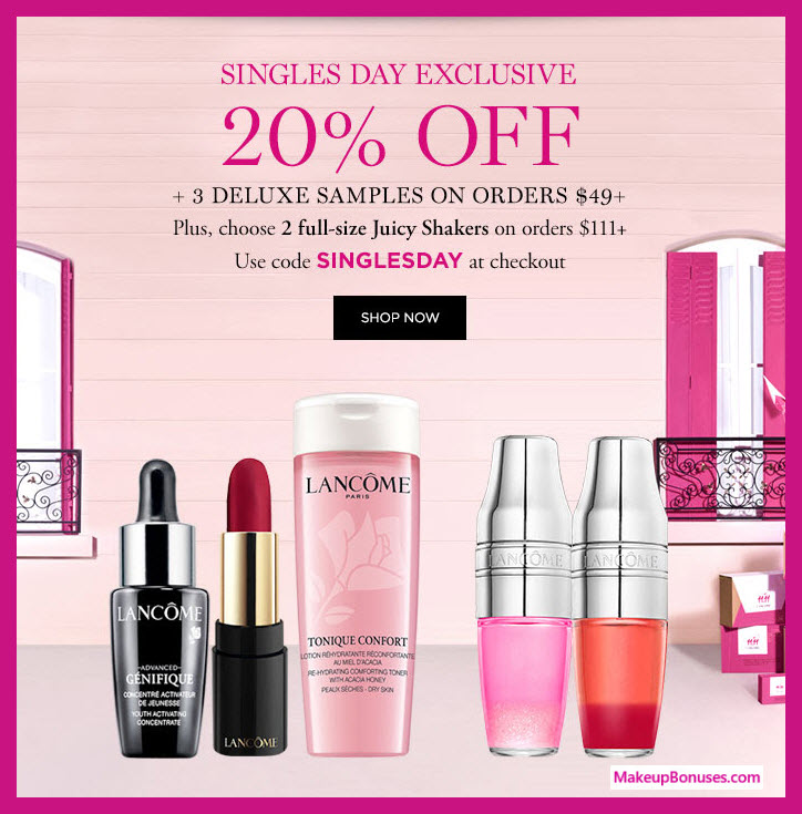 Receive a free 5-pc gift with $111 Lancôme purchase #lancomeUSA