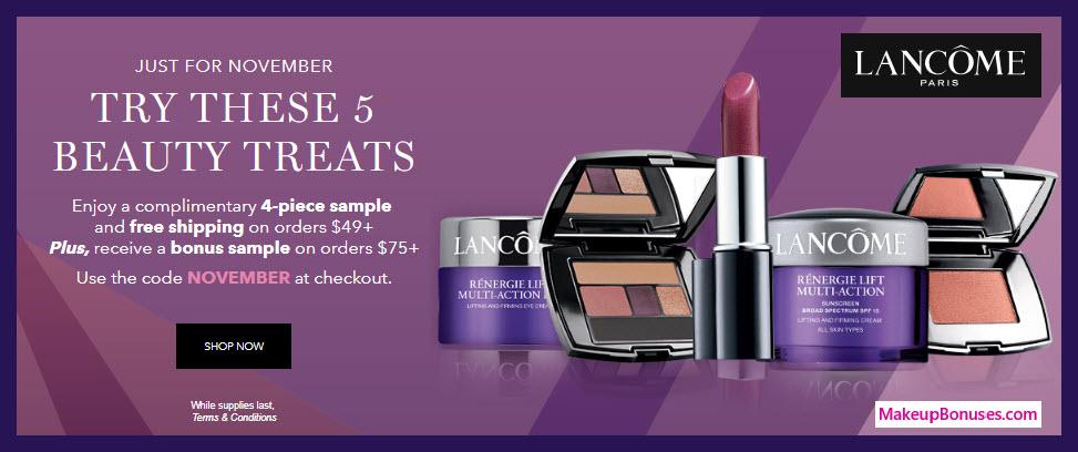 Receive a free 5-pc gift with $75 Lancôme purchase #lancomeUSA