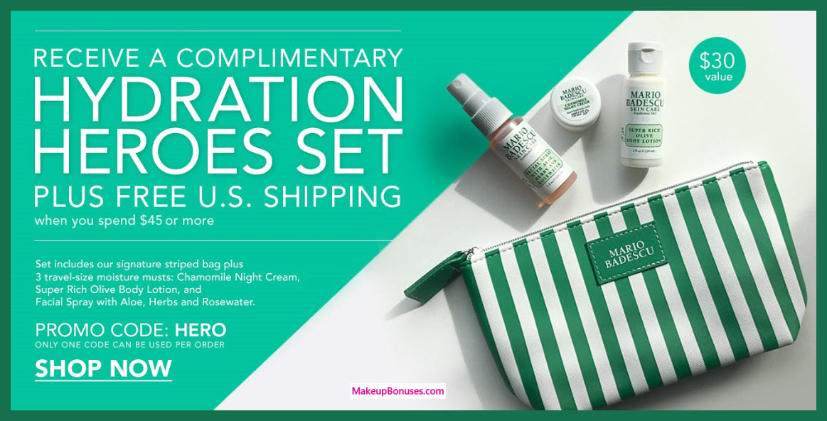 Receive a free 4-pc gift with $45 Mario Badescu purchase #MarioBadescu