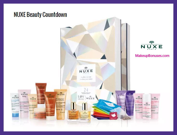 NUXE Beauty Countdown - MakeupBonuses.com # #nuxe #lookfantasticcus #lookfantastic