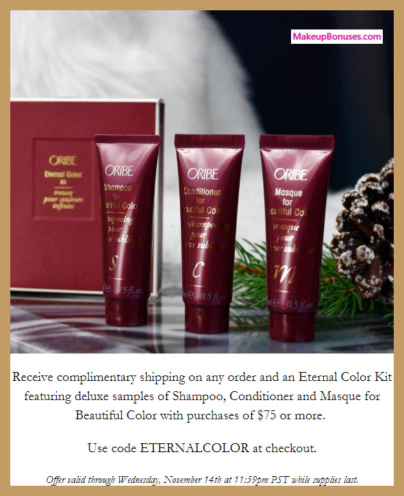 Receive a free 3-pc gift with $75 Oribe purchase #Oribe