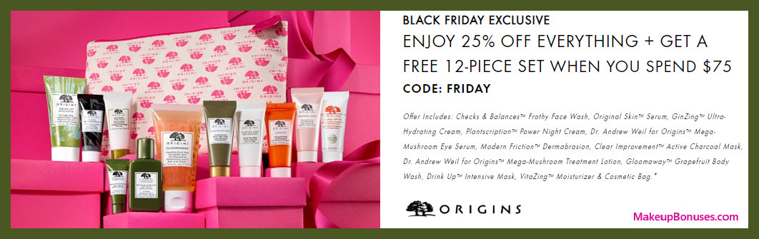 Origins Sale - MakeupBonuses.com