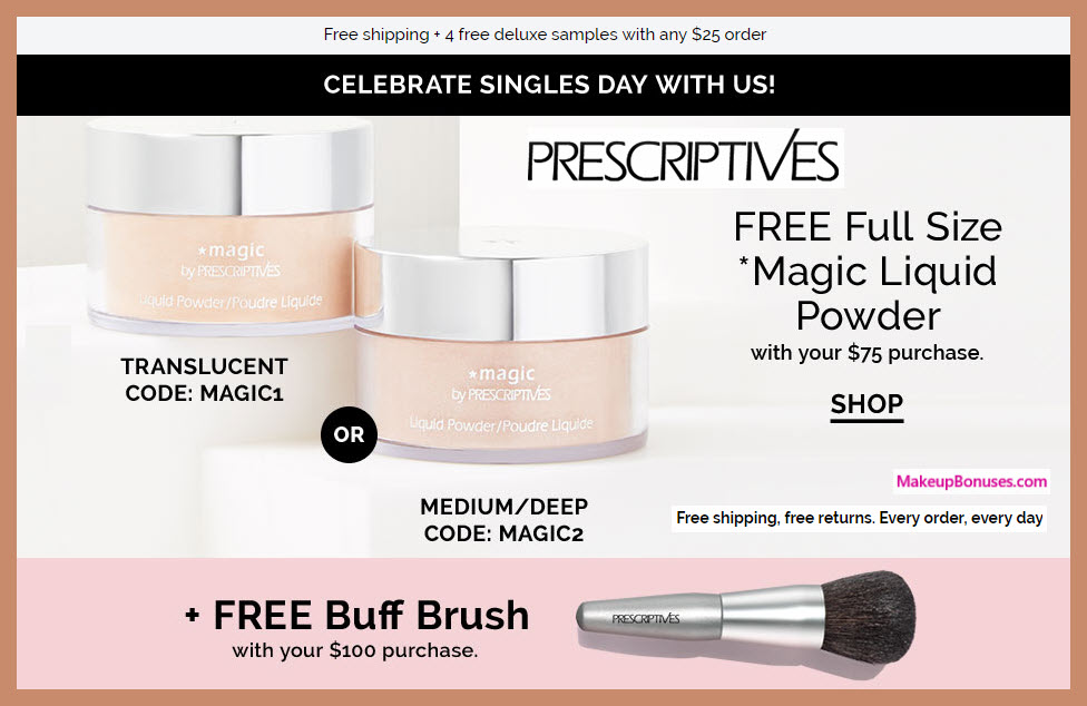 Receive a free 2-pc gift with $100 Prescriptives purchase #prescriptives