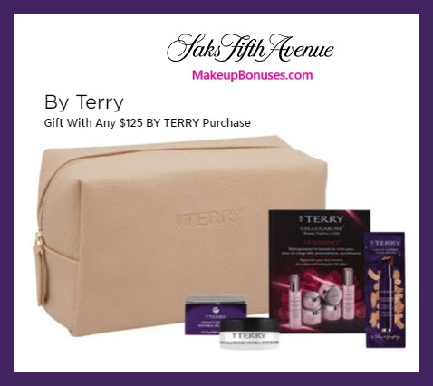 Receive a free 5-pc gift with $125 By Terry purchase #saks