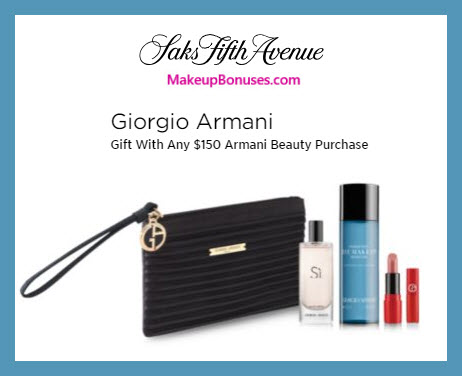 Receive a free 5-pc gift with $150 Giorgio Armani purchase #saks