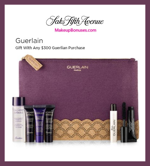 Receive a free 7-pc gift with $300 Guerlain purchase #saks