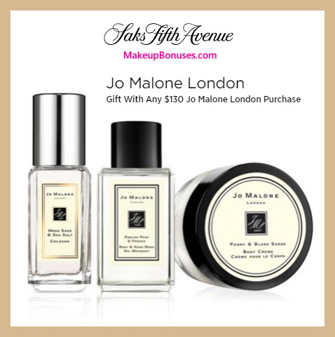 Receive a free 3-pc gift with $130 Jo Malone purchase #saks
