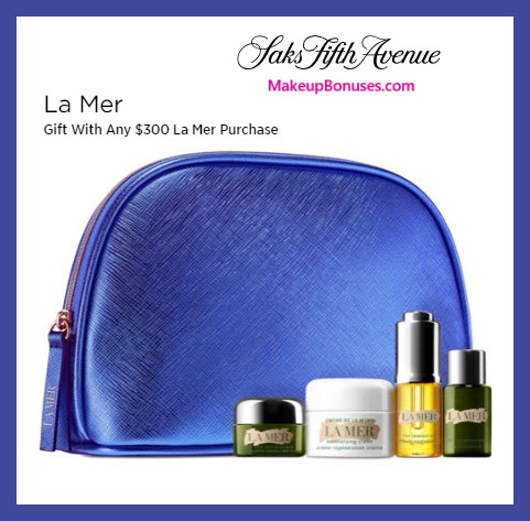 Receive a free 5-pc gift with $300 La Mer purchase #saks