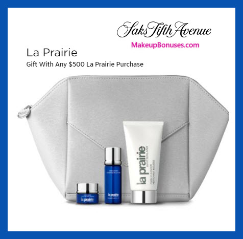 Receive a free 4-pc gift with $500 La Prairie purchase #saks