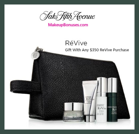 Receive a free 5-pc gift with $350 RéVive purchase #saks