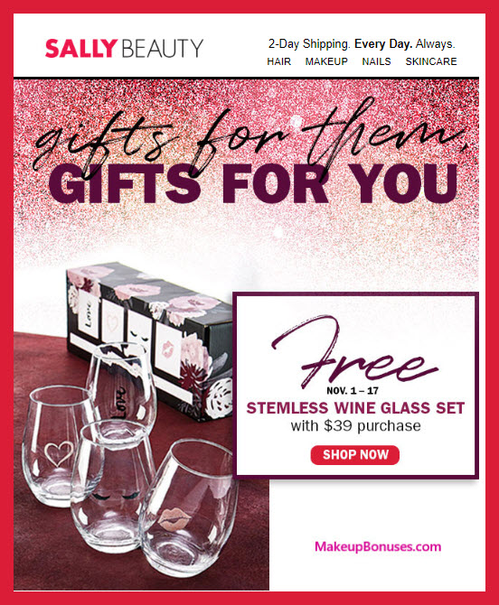 Receive a free 4-pc gift with $39 Multi-Brand purchase #sallybeauty
