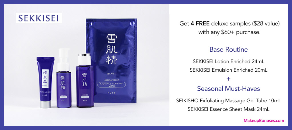 Receive a free 4-pc gift with $60 Sekkisei purchase #SAVETHEBLUEORG