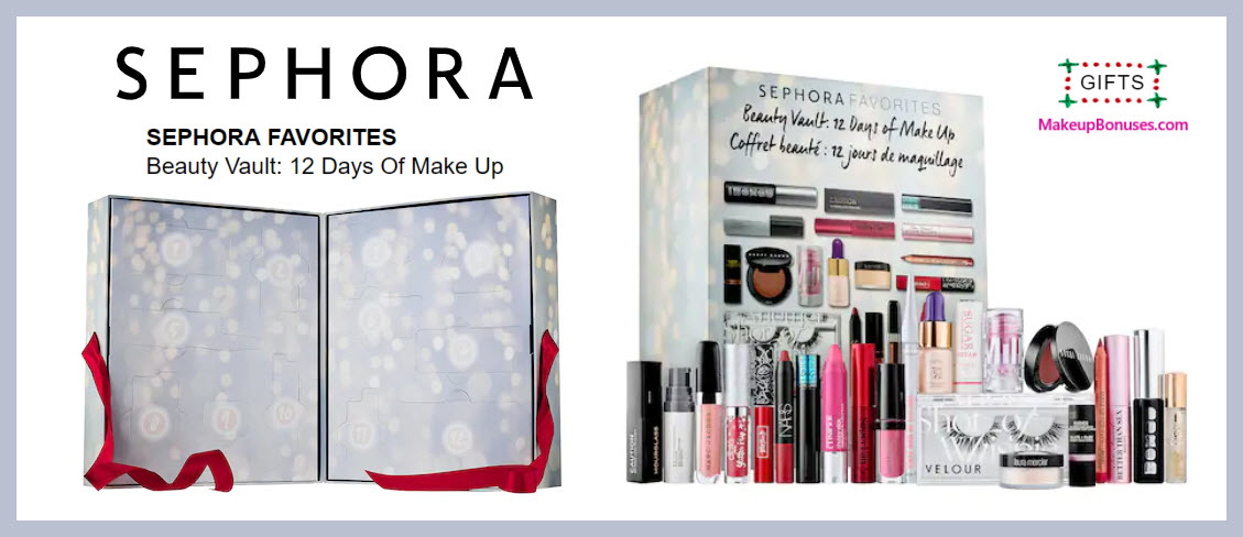 Beauty Vault: 12 Days Of Make Up - MakeupBonuses.com #sephora