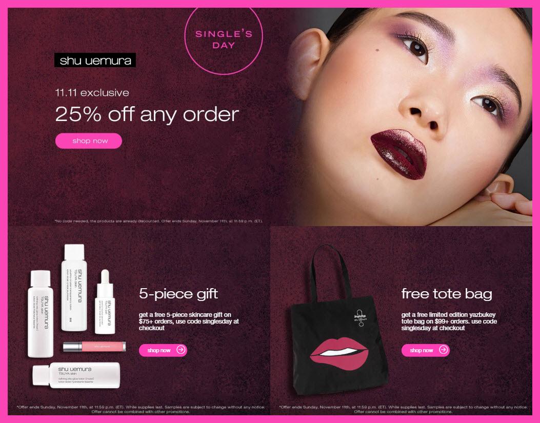 Shu Uemura Sale - MakeupBonuses.com