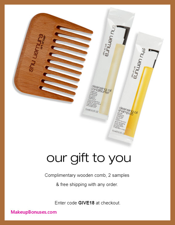 Receive a free 3-pc gift with purchase #Shu_ArtofHair
