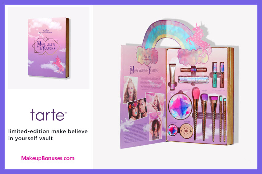 TARTE Make Believe in Yourself Vault - MakeupBonuses.com #tartecosmetics #sephora
