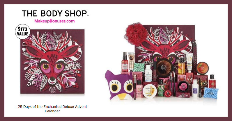 25 Days of the Enchanted Deluxe Advent Calendar - MakeupBonuses.com #thebodyshopusa