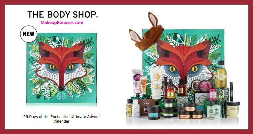 25 Days of the Enchanted Ultimate Advent Calendar - MakeupBonuses.com #thebodyshopusa