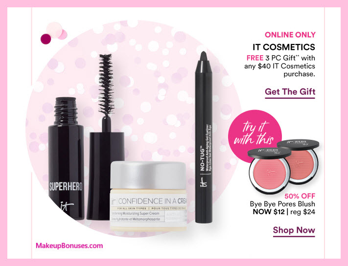 Receive a free 3-pc gift with $40 It Cosmetics purchase #ultabeauty