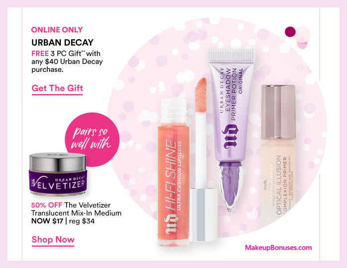 Receive a free 3-pc gift with $50 Urban Decay purchase #ultabeauty