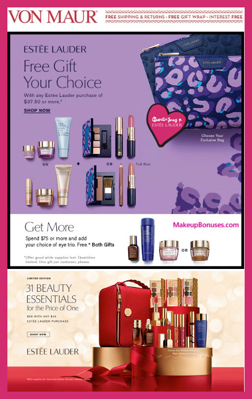 Receive your choice of 7-pc gift with $37.5 Estée Lauder purchase #Von_Maur