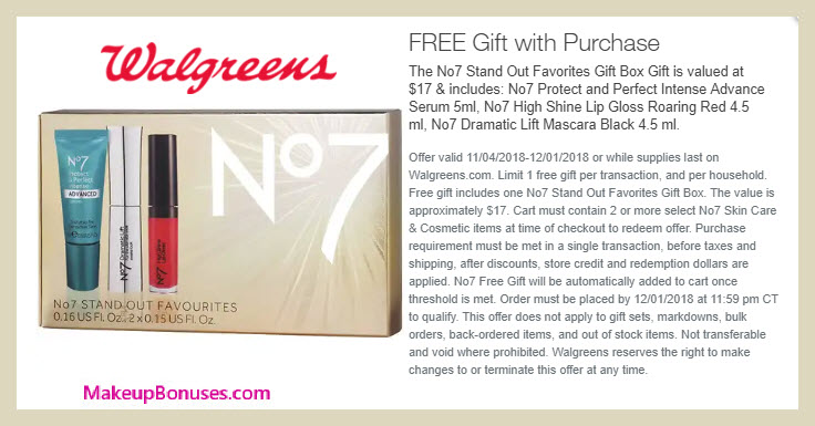 Receive a free 3-pc gift with 2+ products purchase #Walgreens