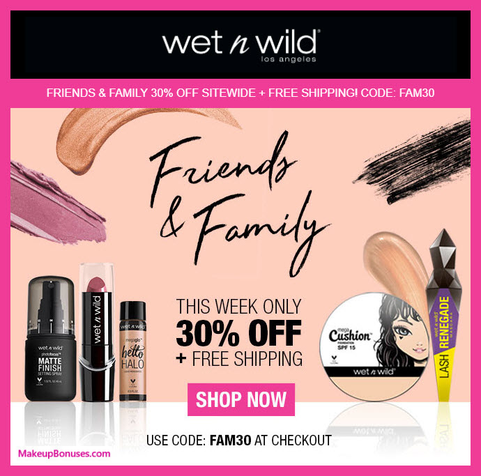 Wet N Wild Sale - MakeupBonuses.com