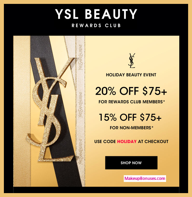Yves Saint Laurent Sale - MakeupBonuses.com