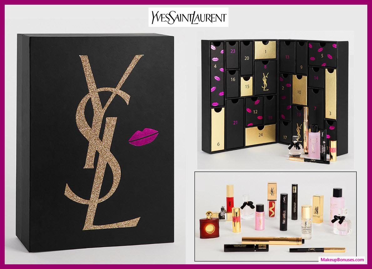 YSL ADVENT CALENDAR - MakeupBonuses.com #YvesSaintLaurentBeautyUSA #YSLbeauty #YSL_Beauty